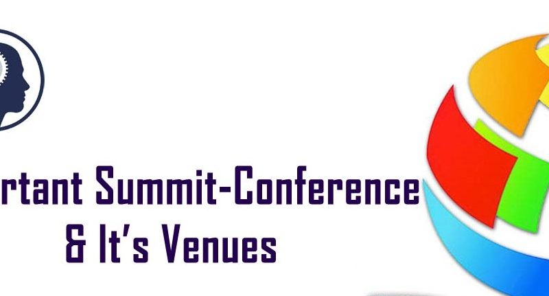 Summit and Conference Current Affairs 2019
