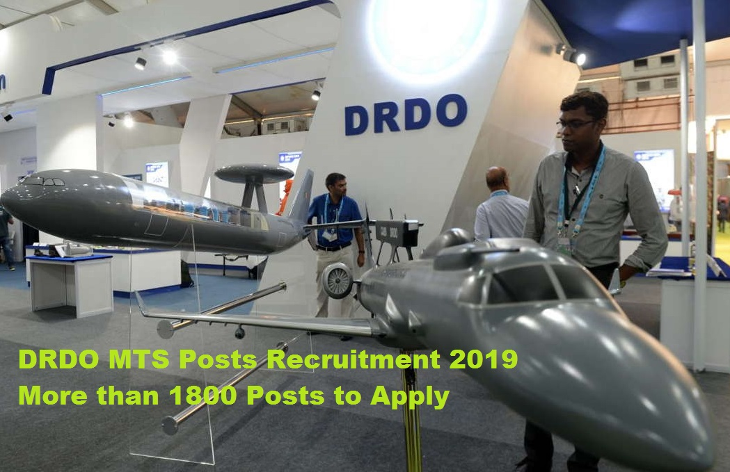 DRDO MTS Posts Recruitment 2019 More than 1800 Posts to Apply