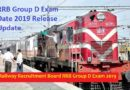 RRB Group D Exam Date 2019 Release Update