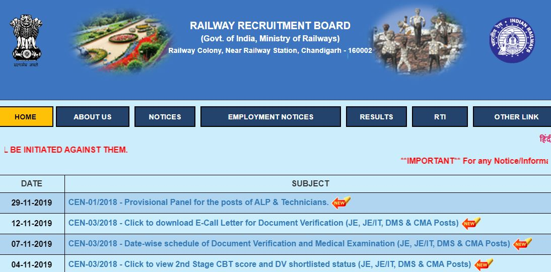 RRB NTPC Exam 2019 Date to be Release Next Month