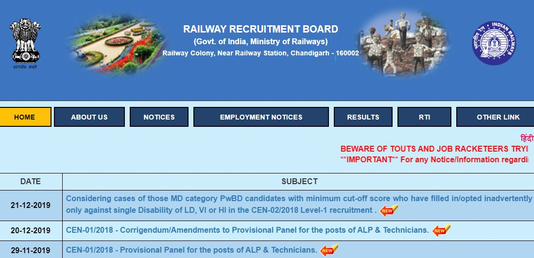 RRB Group D Railway Exam Date 2019