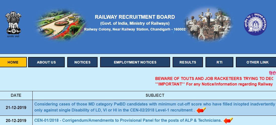 RRB NTPC Admit Card 2019 Download Release Date
