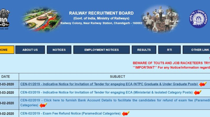 RRB NTPC Admit Card 2019 Date Released RRB