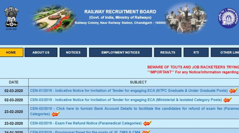 RRB NTPC Admit Card 2019 Released CBT Exam