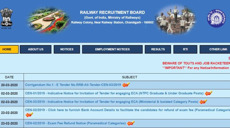 RRB NTPC Admit Card Released Dates 2019