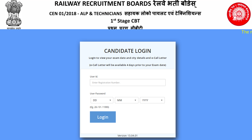 RRB NTPC Admit Card Railways 2019 Release Date