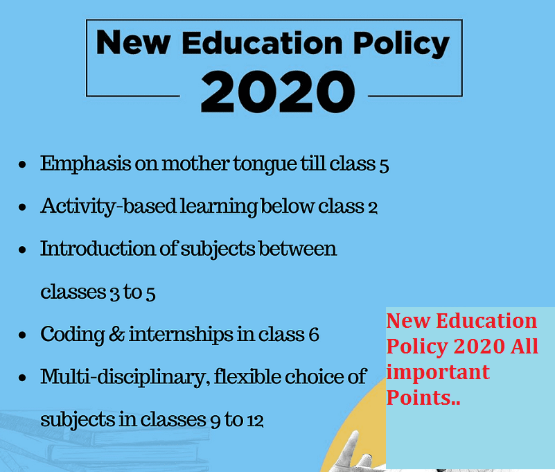 New Education Policy 2020 All important Points