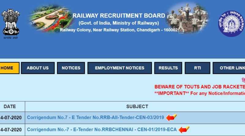 RRB Railway NTPC Admit Card Date Released 2020