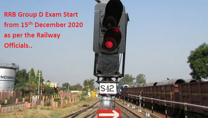 RRB Group D Exam Start from 15th December 2020